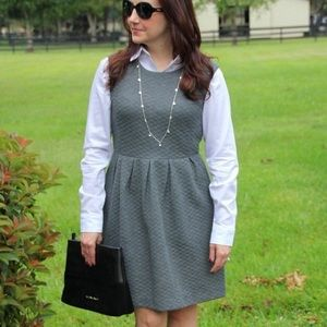 Loft grey quilted dress 10P